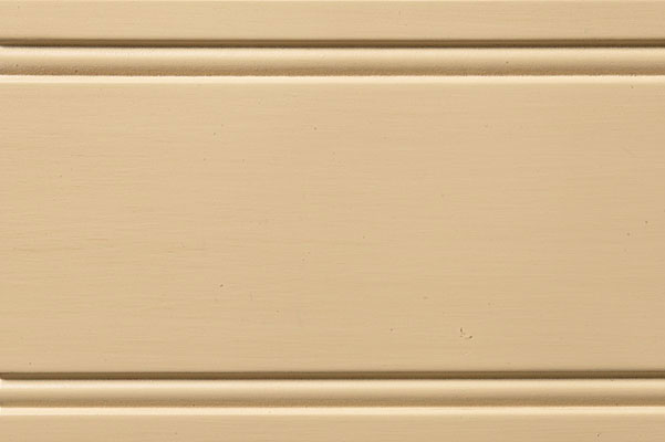 Woodharbor eggnog paint with latte brushed glaze finish