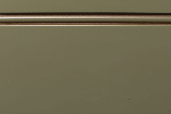 Woodharbor leatherleaf green paint with coffee glaze finish