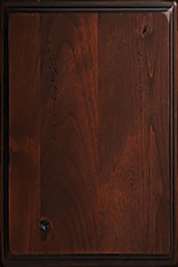 Woodharbor knotty alder rustic chestnut finish