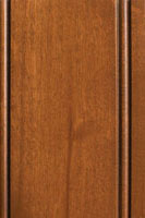 Woodharbor knotty alder caramel stain with coffee glaze