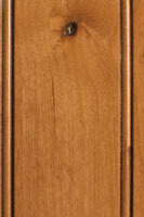 Woodharbor knotty alder honey stain with coffee glaze