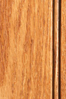 Woodharbor Red oak allspice stain with chocolate glaze